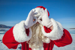 Portrait of Santa Claus outdoors Stock Images