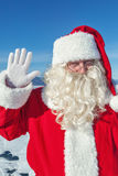 Portrait of Santa Claus outdoors Royalty Free Stock Images