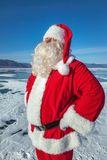 Portrait of Santa Claus outdoors Stock Photography