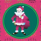 Portrait of a Santa Claus posing near bag gifts Stock Photo