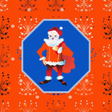 Portrait of a Santa Claus posing near bag gifts Royalty Free Stock Photo