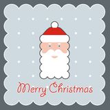Portrait of Santa Claus in a red cap Stock Photo