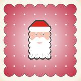 Portrait of Santa Claus in a red cap Royalty Free Stock Images