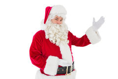 Portrait of santa claus showing Stock Photography