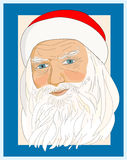 Portrait of Santa Claus Stock Photos