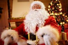 Portrait Santa Claus on xmas- Christmas time Stock Photography