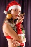 Portrait Santa Girl Royalty Free Stock Image