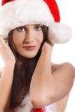 Portrait of santa girl Stock Image
