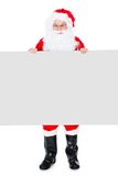 Portrait of a santa holding blank placard Stock Photos