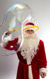 Portrait of Santa with long bubble Stock Photography