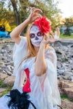 Portrait of Santa Muerte Stock Photography