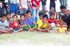 Portrait of Sasak tribal children in Kuta Stock Photography