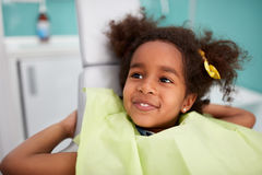 Portrait of satisfied child after dental treatment Royalty Free Stock Photo