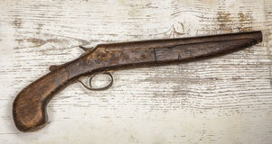 Portrait of a sawed off pistol Stock Images