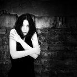 portrait scared woman young Στοκ εικόνες με δικαίωμα ελεύθερης χρήσης