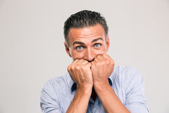 Portrait of a scared young man Royalty Free Stock Photography