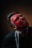 Portrait of scary bad zombie at  night Stock Photos