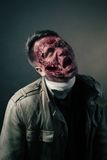 Portrait of scary bad zombie at  night Stock Photography