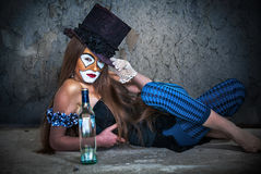 Portrait scary monster clown Royalty Free Stock Photography