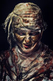 Portrait of scary mummy. Portrait of scary bad mummy at night Stock Image