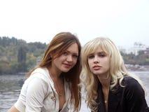 Portrait schönen Mädchens zwei Lizenzfreie Stockbilder