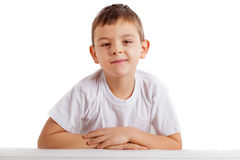 Portrait of school boy Royalty Free Stock Photo