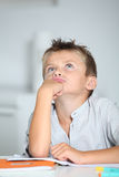 Portrait of school boy with thoughtful look Stock Image