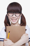 Portrait of School Girl Stock Photography