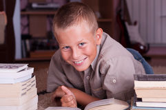 Portrait of a schoolboy Stock Photo