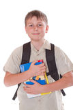 Portrait of a schoolboy Stock Image
