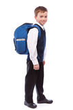 Portrait of  schoolboy with  briefcase Stock Photo