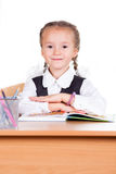 Portrait of schoolgirl Royalty Free Stock Image