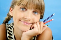 Portrait of schoolgirl Royalty Free Stock Image