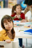Portrait of schoolgirl in art class Royalty Free Stock Images