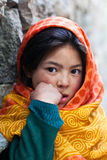 Portrait of Schoolgirl from Baltistan, Ladakh Stock Image