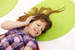 Portrait of schoolgirl with headset Stock Photos