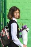 Portrait of a schoolgirl in school uniform Royalty Free Stock Photo