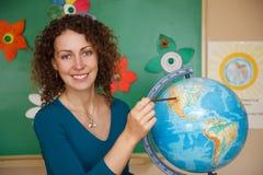 Portrait of schoolteacher in blouse in school Stock Images