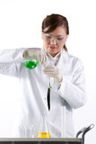 Portrait of a scientist analyzing a solution. Royalty Free Stock Photo