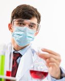 Portrait of a scientist working in the lab Royalty Free Stock Images