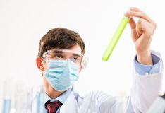Portrait of a scientist working in the lab Stock Photos