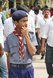 Portrait of a scout guy, India Royalty Free Stock Image
