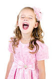 Portrait of screaming cute little girl Stock Image