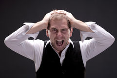 Portrait of a screaming man Royalty Free Stock Photo