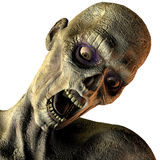 Portrait of screaming undead. 3D rendering of a portrait of screaming undead Stock Images