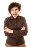Portrait of screaming woman Royalty Free Stock Photos