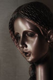 Portrait sculpture. Sculpture, woman's portrait. A little statue Royalty Free Stock Photos