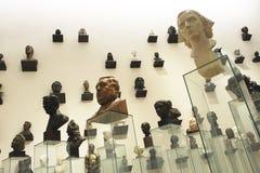 Portrait scupltures. Portrait sculptures captured in Estonian Art Museum KUMU in November 2012 Stock Images