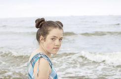Portrait on the sea Royalty Free Stock Images