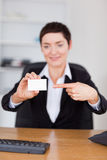 Portrait of a secrertary showing Royalty Free Stock Photo